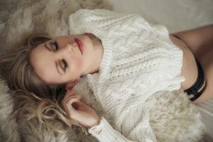 Toronto Boudoir Photography Casual Sweater Lifestyle Boudoir Photography